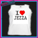 I LOVE HEART JEZZA UNISEX VEST TOP